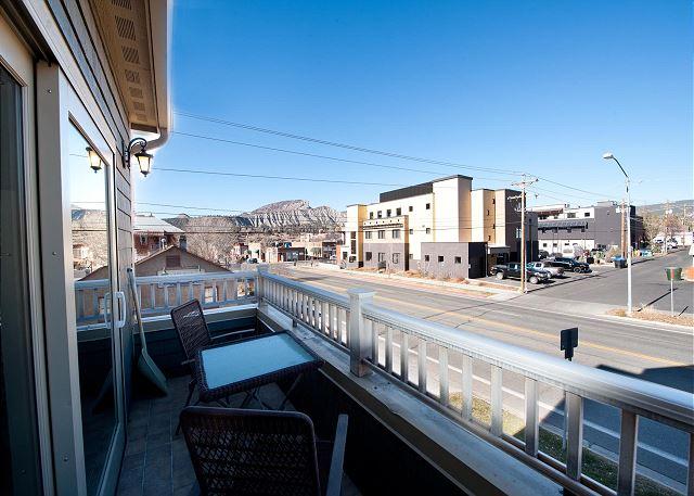 Patio overlooking downtown Durango