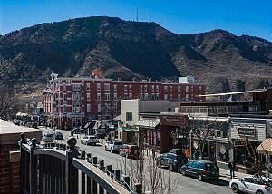 Luxury Condo on Historic Main Ave. - Deck overlooking Main & Mountain Views