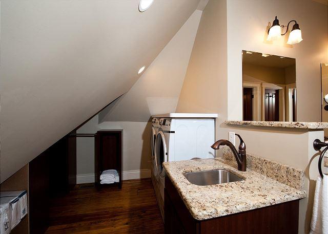 Washer/Dryer in the Master Bathroom