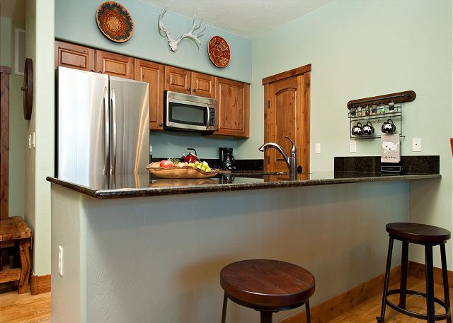 Kitchen with traditional drip coffeemaker