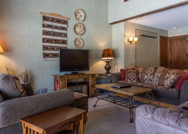 Living Room with Queen Murphy Bed
