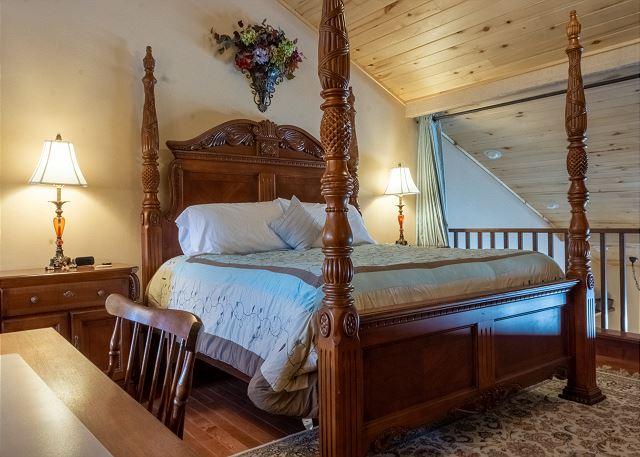 King Bed in Master Bedroom Loft
