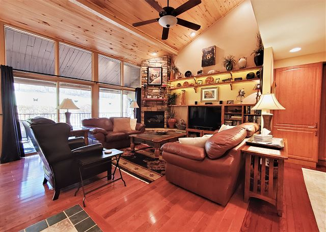 Living Room with Large Deck