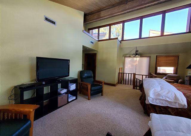 TV in bedroom loft
