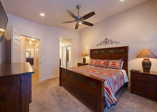 Master Bedroom - King Bed and TV