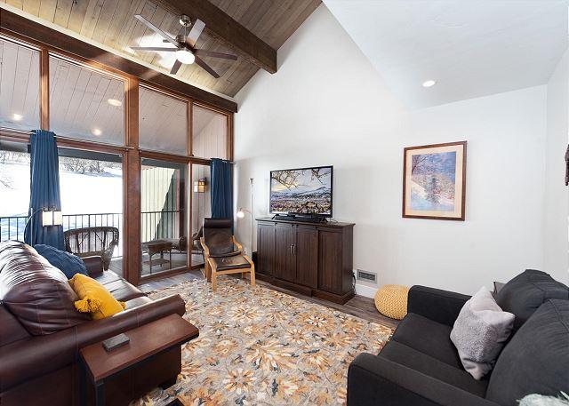 Living Room with Sleeper Sofa and Twin Sleeper Chair