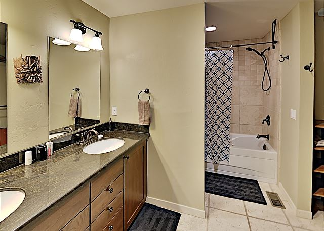 Master bathroom with shower and tub.