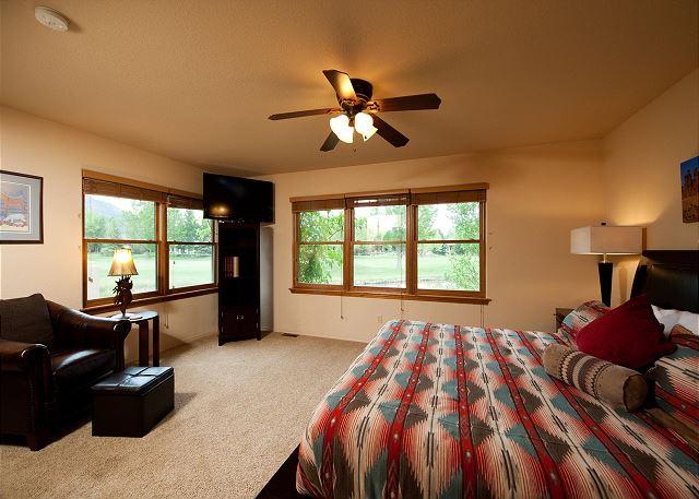 Master Bedroom - King and TV (Main Floor)