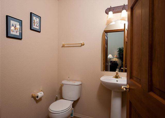1/2 Bath - Off Main Living Space