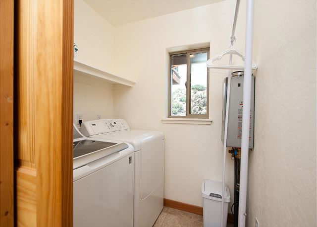 Full size washer and dryer (laundry detergent provided)