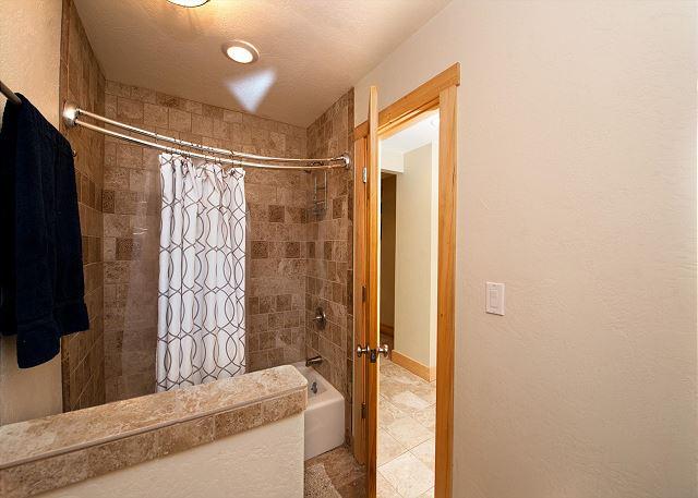 Jack and Jill bathroom between bedrooms 3 and 4