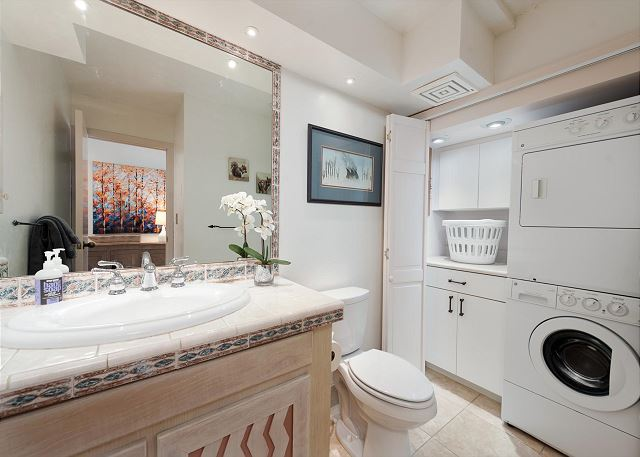 Main Level Bathroom with Washer/Dryer