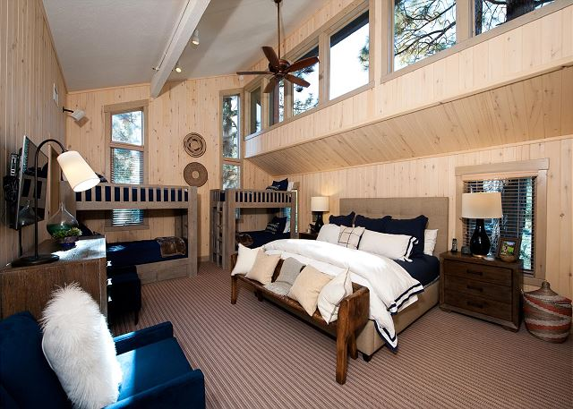 Master Bedroom with King Bed & 2 Twin Bunk Beds
