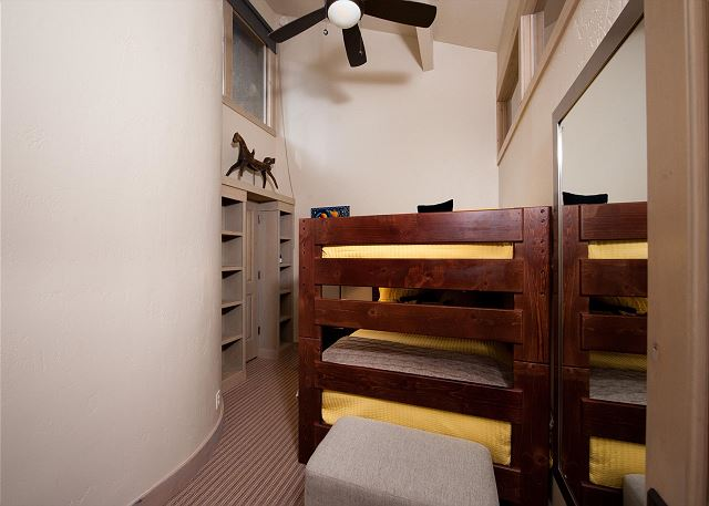 Guest Bedroom with Full Bunk Beds