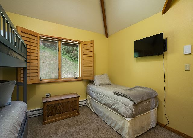2nd - Bunk Bed (single over single) and twin bed (Upstairs) with TV