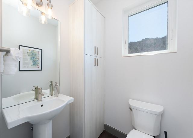 1/2 Bathroom off the Main Living Space