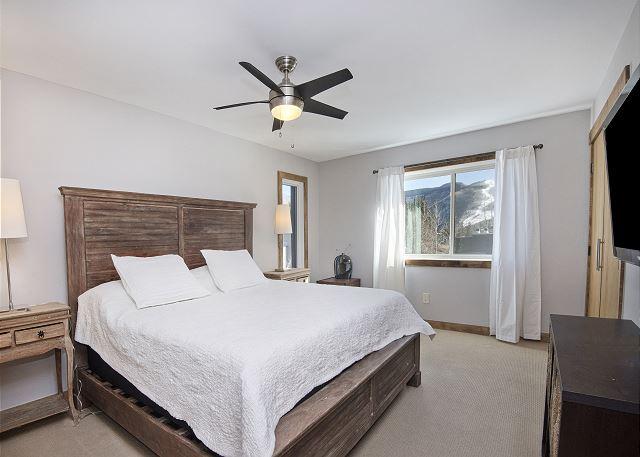 Main bedroom with big window.