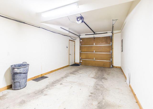 One car attached garage.