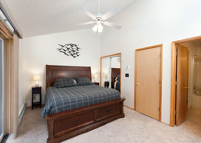 Master Bedroom - King and TV (Upstairs)
