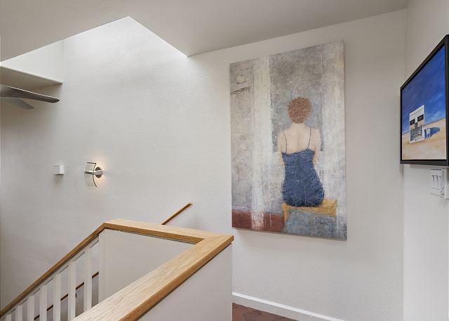 Upstairs landing - original art work throughout the home