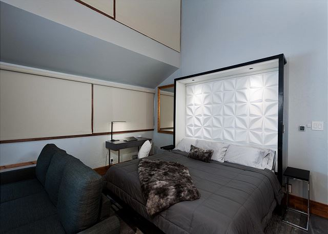 King Bed with views of TV