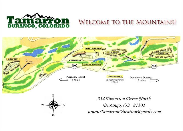 Tamarron Map