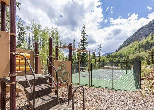 Tennis court and playground in Engineer Village