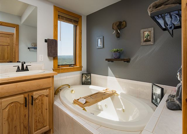2nd Bathroom with tub and shower.