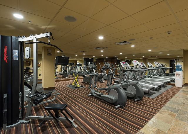 Purgatory Lodge gym facility. Access comes with your reservation.
