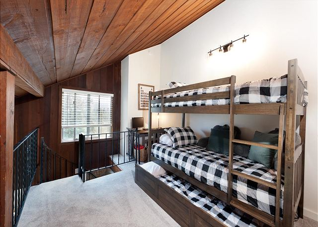 3rd Bedroom (Loft) - Bunk Beds (single over single) and trundle bed (single)