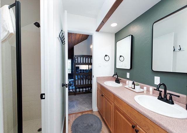 Bathroom upstairs between 2nd Bedroom and Loft Bedroom