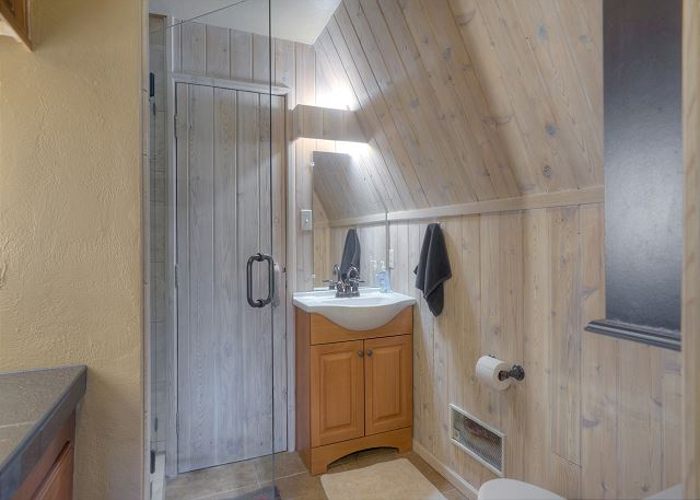 Main level bath with walk in shower