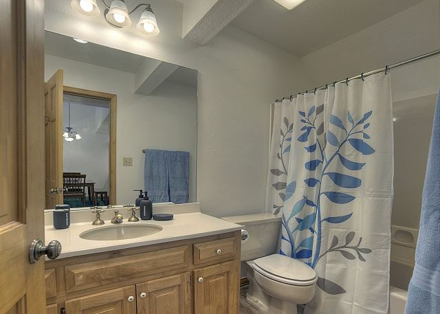 2nd bathroom with tub/shower combo