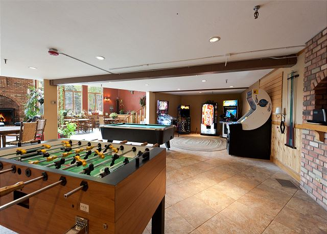 Gameroom located in the main Cascade Village complex lodge building.