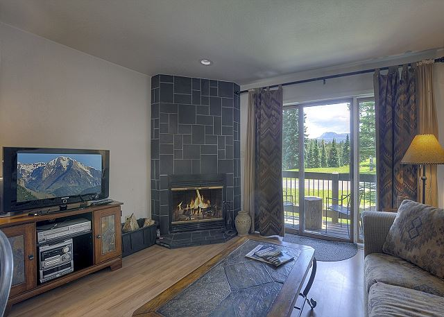 Main Living Space - Deck and Wood Burning Fireplace (wood provided)