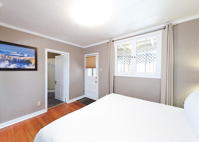 Master Bedroom - King and access to the deck