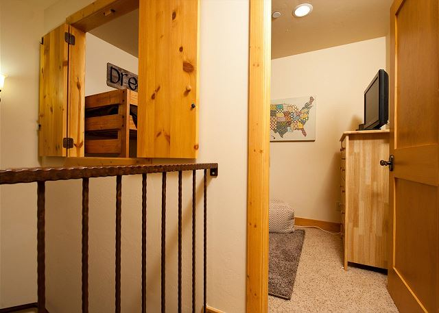 3rd Bedroom - Bunks (Single over Double) and TV