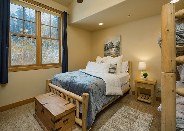 2nd Bedroom - Queen and bunks (Single over Single) and TV