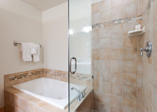 Master Bathroom - Double sinks, Tub and Shower