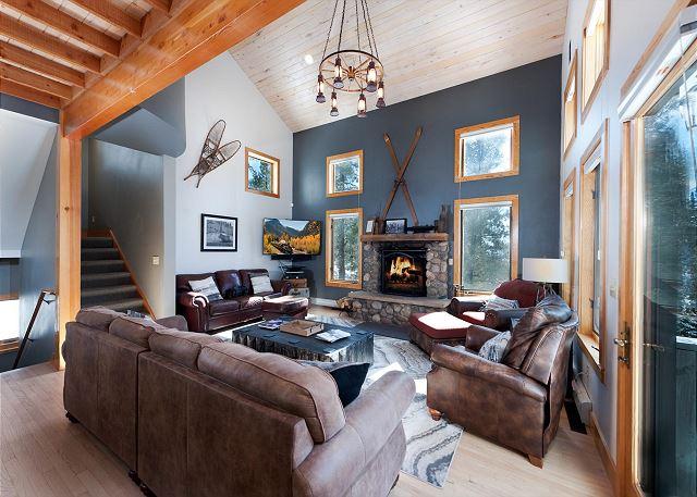 Main Living Space - Wood Burning Fireplace