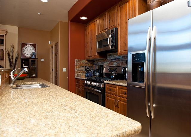 Kitchen with traditional drip coffee maker