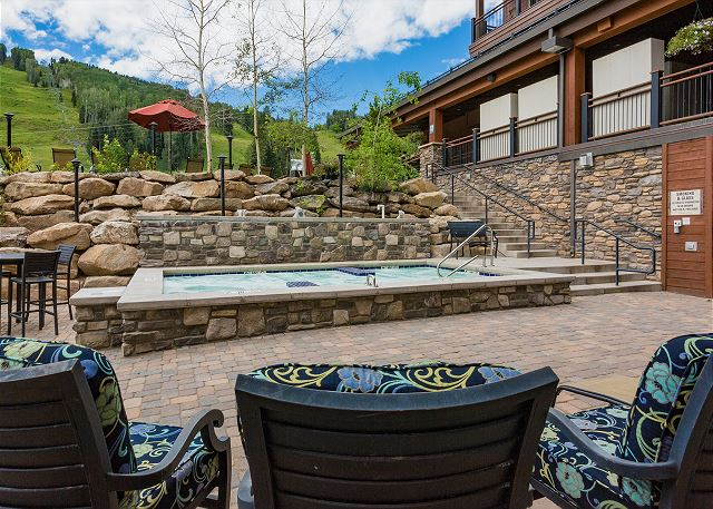 Purgatory Lodge hot tub. This is an optional amenity that you can access the Purg Lodge pool, hot tub, and gym facilities by paying an additional 4% fee.