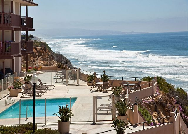 One of two oceanfront pools