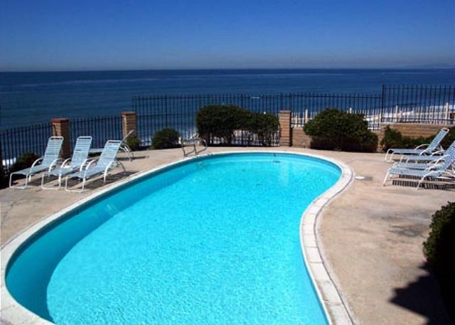 Oceanfront complex pool is heated year-round