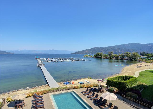 Seasons at Sandpoint - Pool and Marina Views