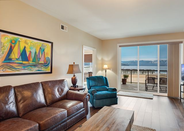 Condo 124 - Living Space with Lake View