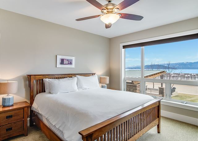 Condo 124 - Master Suite with Lake Views