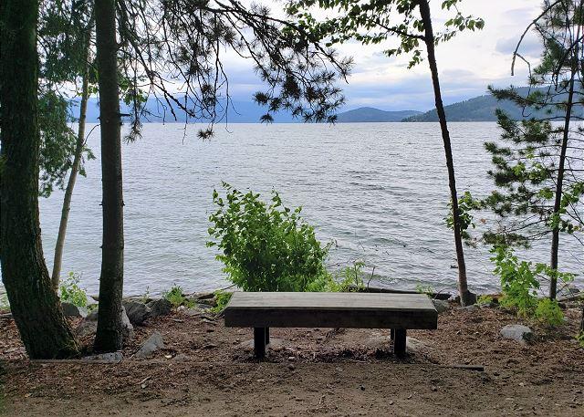 Seasons at Sandpoint - Mel's Bench