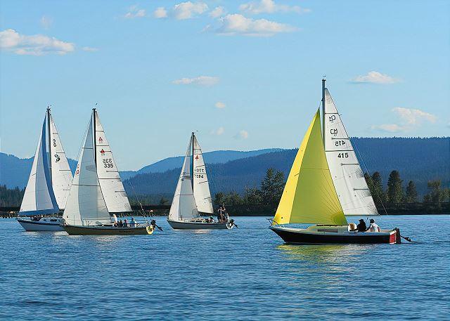 Sandpoint, Idaho - Sailing on Lake Pend Oreille