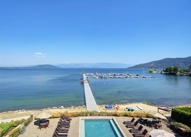 Seasons at Sandpoint - Marina and Pool Views